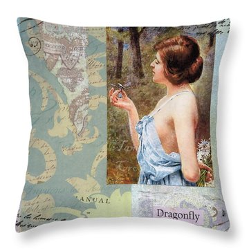 To Study The Dragonfly Throw Pillow