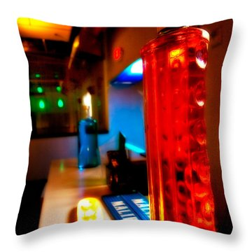 To The Bar Throw Pillow by Melinda Ledsome