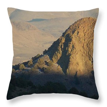 To The End Of Nevada Throw Pillow