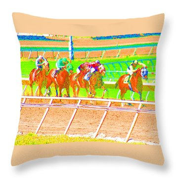 To The Finish Line Throw Pillow