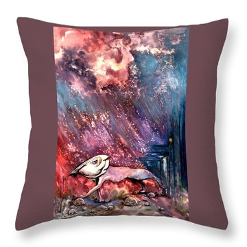 Throw Pillow featuring the painting To The Freedom by Mikhail Savchenko