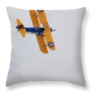 To The Right... Throw Pillow by George Mount