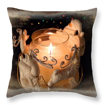 To The Top Of The Porch To The Top Of The Wall  Now Dash Away Dash Away Dash Away All Throw Pillow by Lucinda Walter