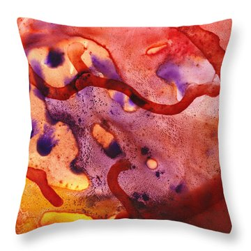 To The Unknown Abstract Path Number One Throw Pillow by Irina Sztukowski
