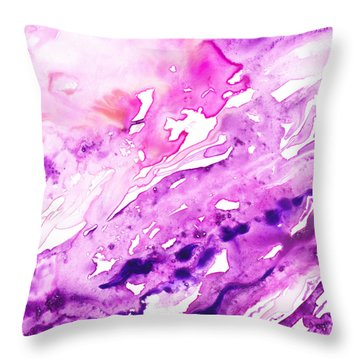 To The Unknown Abstract Path Number Seven Throw Pillow