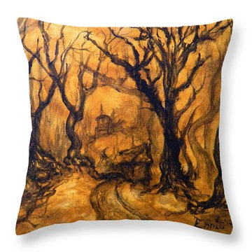 Toad Hollow Throw Pillow