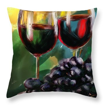 Toast Of Wine Throw Pillow