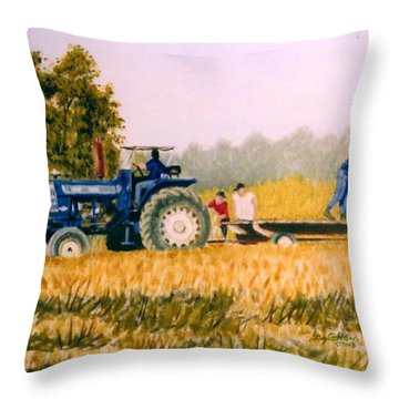 Tobacco Farmers Throw Pillow