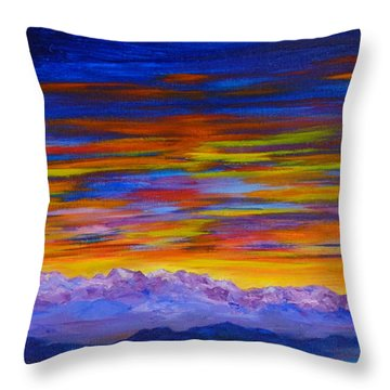 Tobacco Root Mountains Sunset Throw Pillow