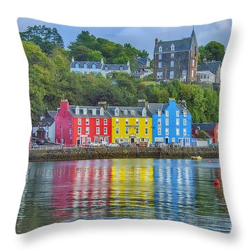Tobermory Isle Of Mull Throw Pillow