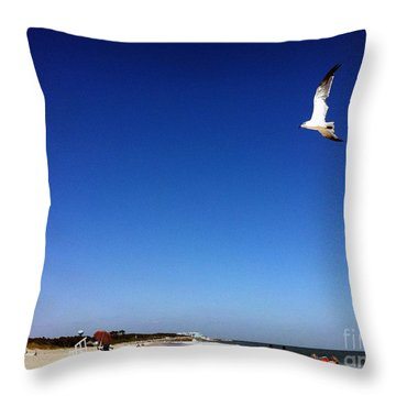 Throw Pillow featuring the photograph Today I Will Soar Like A Bird by Phil Mancuso