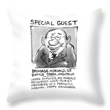 Today's Special Guest Brundage Mornald Throw Pillow