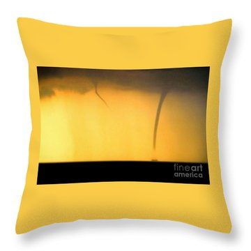 Todays Weather Sunny But Strong Chance Of A Water Spout Or Two Throw Pillow by Michael Hoard