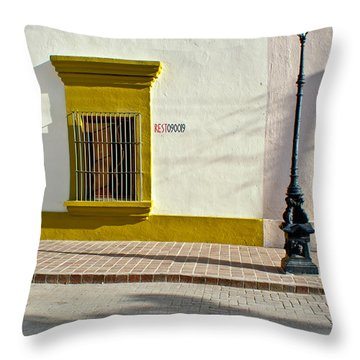 Todos Alley Throw Pillow by Ryan Burton