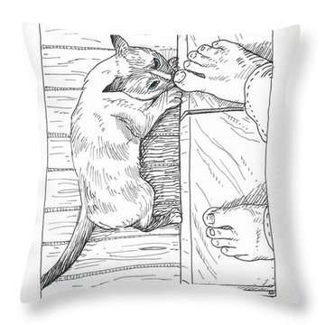 Toe Beast Throw Pillow