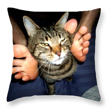 Throw Pillow featuring the photograph Toe Wings by Carlee Ojeda
