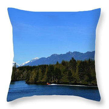 Tofino Bc Clayoquot Sound Browning Passage Throw Pillow