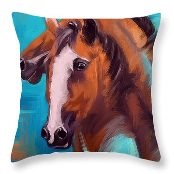 Together 1 Throw Pillow by Go Van Kampen