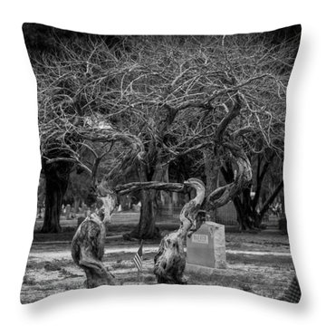 Throw Pillow featuring the photograph Together Even In Death by Amber Kresge