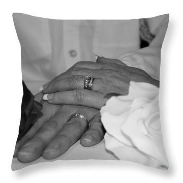 Together Forever Throw Pillow by Davandra Cribbie