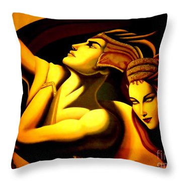 Together Throw Pillow by Newel Hunter