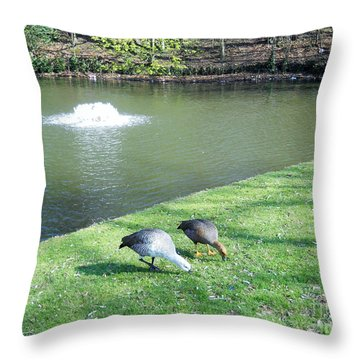 Throw Pillow featuring the photograph Together by Ramona Matei