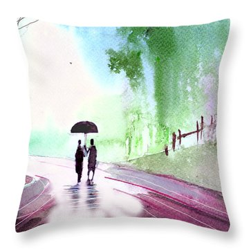 Togetherness Throw Pillow by Anil Nene