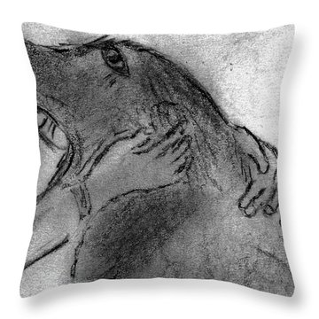 Togetherness Throw Pillow by Elizabeth Briggs