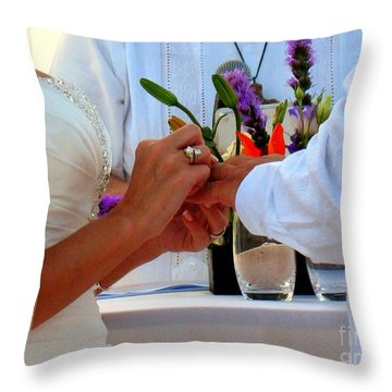 Token Of Love In The Islands Throw Pillow by Patti Whitten