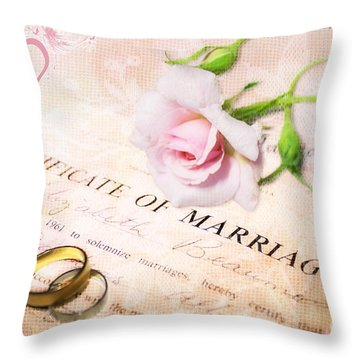 Tokens Of Love Throw Pillow by Linda Lees