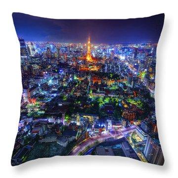 Tokyo Dreamscape Throw Pillow