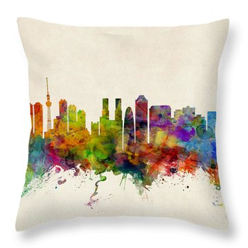 Tokyo Skyline Throw Pillows