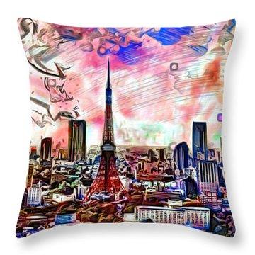 Tokyo Metropolis Throw Pillow