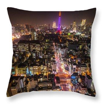 Tokyo Tower - Tokyo - Japan Throw Pillow