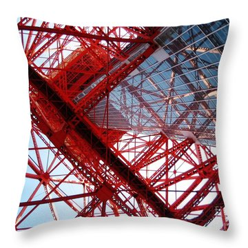 Tokyo Tower Throw Pillow by Nelly Bacskay