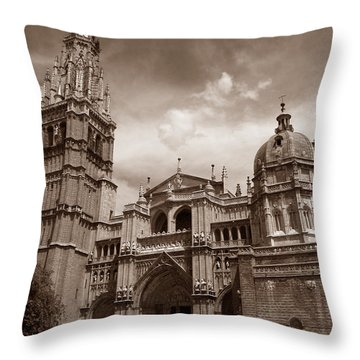 Toledo Cathedral Throw Pillow