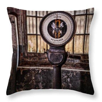 Toledo No Springs Scale Throw Pillow by Susan Candelario