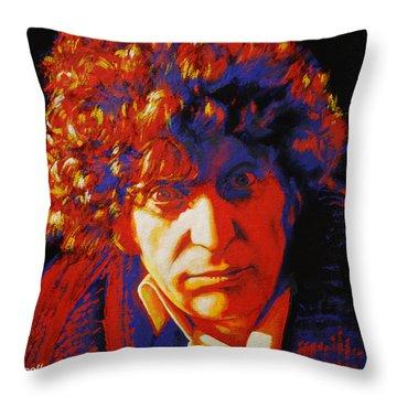 Tom Baker Throw Pillow