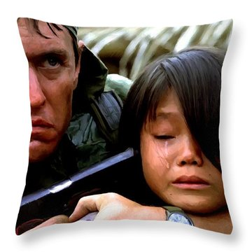 Tom Berenger In The Film Platoon - 1 Throw Pillow