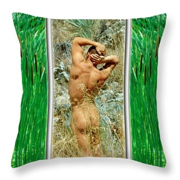 Tom D. 7--2 Throw Pillow by Andy Shomock