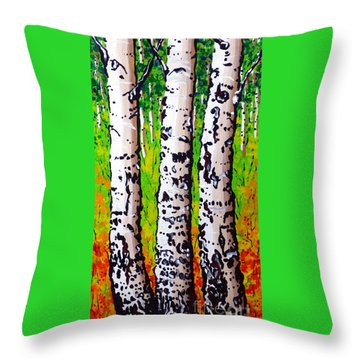 Tom Dick And Harry Throw Pillow by Jackie Carpenter
