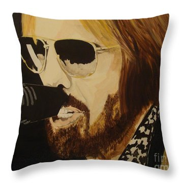 Tom Petty Throw Pillow by Stuart Engel