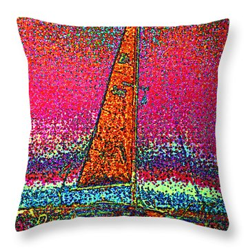 Tom Ray's Sailboat 3 Throw Pillow by First Star Art