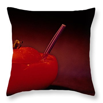 Throw Pillow featuring the photograph Tomato Juice by Sharon Elliott