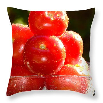 Tomatoes 2 Throw Pillow by Sabine Jacobs