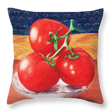 Tomatoes Throw Pillow by Anastasiya Malakhova