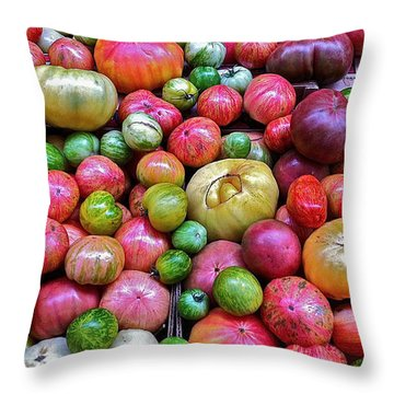 Tomatoes Throw Pillow by Bill Owen