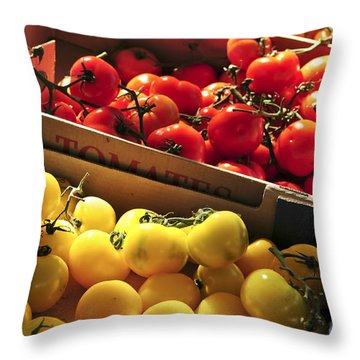 Tomatoes On The Market Throw Pillow