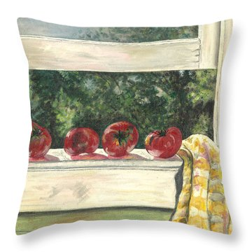 Tomatoes On The Sill Throw Pillow