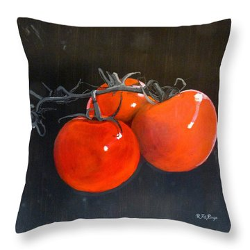 Throw Pillow featuring the painting Tomatoes by Richard Le Page